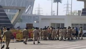 Donald Trump India visit: Security tightened outside Motera Stadium in Ahmedabad