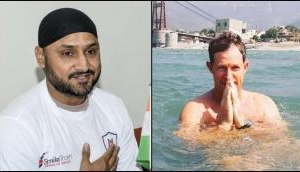 Harbhajan Singh makes request to Jonty Rhodes after seeing him take a dip in Ganges
