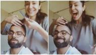 Amid lockdown, Anushka Sharma turns hairdresser for hubby Virat Kohli