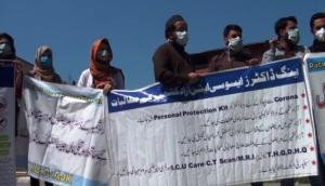 Coronavirus: Doctors protest in PoK as govt fails to provide PPE kits