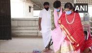 Gujarat: Couple ties knot in Surat wearing masks, gloves amid Coronavirus crisis