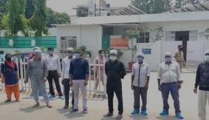 Corona Warriors: GBN District Hospital sanitation workers protest to highlight their plight