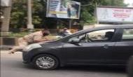 Coronavirus: Man drags policeman on car's bonnet in Jalandhar, amid COVID lockdown [Watch]