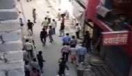 Locals pelt stones at police over restriction of movement at Delhi-Gurugram border [Watch]