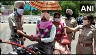 Lockdown 4.0: Amid lockdown Patiala man takes his bride home on motorbike, police garland newly-wed couple