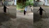 घर में निकले कोबरा पर दादी की बहादुरी पड़ गई भारी, रस्सी की तरह पकड़कर लगा दी दौड़
