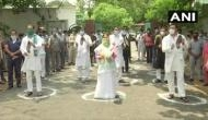 JDU members oppose RJD's protest against Amit Shah rally