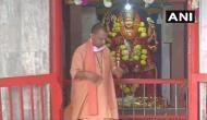 UP Chief Minister Yogi Adityanath offers prayers at Gorakhnath Temple