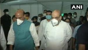 Delhi: Amit Shah, Rajnath Singh visit DRDO-built Sardar Vallabhbhai Patel COVID-19 Hospital
