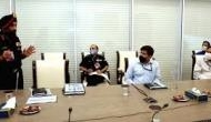 Rajnath Singh reviews ongoing projects at borders with BRO chief