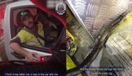 चलती कार में युवक के पैरों में आकर लिपट गया सांप, वीडियो में देखें फिर हुआ क्या...