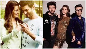 When Kriti Sanon denied dating Sushant Singh Rajput on Karan Johar's show; Kartik Aaryan's response will leave you in splits