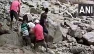 Uttarakhand: Narrow escape for MLA Harish Dhami as he slips while crossing flooded river