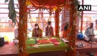 Ram Mandir Bhoomi Pujan: 'Ramarchan puja' begins at Ram Janmbhoomi in Ayodhya