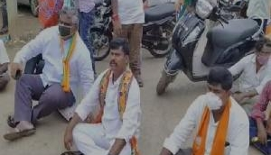 Andhra Pradesh: BJP protest against sub-inspector negligence in gang rape case, SI sent on VR, DSP assures stern action
