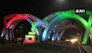 I-Day 2020: Noida entry gate at Delhi-UP border lit up in tricolour