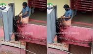 खाली बोतल लेकर सैनिटाइजर चुराने पहुंचा युवक, CCTV पर पड़ी नजर तो किया ये काम