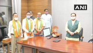 Manipur: 5 MLAs who had left Congress join BJP, meet JP Nadda
