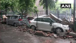 Delhi Rains: Vehicles damaged in Saket after sidewall collapses