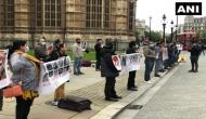 Protest outside Boris Johnson's residence against enforced disappearances in Balochistan