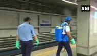 Metro stations being sanitised in Kolkata, people follow social distancing norms