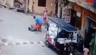 Man brutally thrashes elderly woman; incident caught on cam