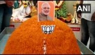 BJP workers offer 70 kg laddu at Coimbatore temple to mark PM Modi's 70th birthday