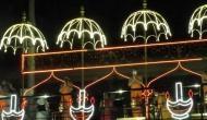 Priests offer 'Pancha Haarati' to Krishna river at Vijayawada's Durga ghat