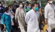 Video: हाथरस जा रहे राहुल गांधी का आरोप- UP पुलिस ने मुझे लाठी से पीटा और जमीन पर फेंका