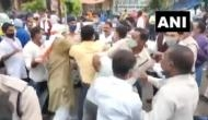 Hathras case: Clash between Congress and Bhim Army workers in Chhattisgarh during protest