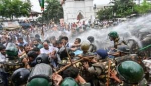 Kolkata: Police uses water cannon, lathi-charge on BJP's protesters