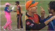 IPL 2020: हैदराबाद के गेंदबाज से भिड़ गए राहुल तेवतिया, वार्नर को करना पड़ा बीच-बचाव, देखें वीडियो