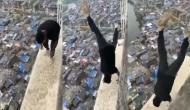 वीडियो बनाने के लिए इस शख्स ने खतरे में डाल दी अपनी जान, 22वीं मंजिल पर किया हैरान कर देना वाला स्टंट