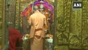 Navratri 2020: UP CM Yogi Adityanath offers prayers on first day of Durga Maa festival
