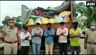 Andhra Police recovers 100 quintals of PDS rice being transported illegally in Krishna district, five held