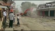 गाजीपुर: गैंगस्टर मुख्तार अंसारी के अवैध होटल पर चला CM योगी का बुलडोजर, जमींदोज हुई बिल्डिंग