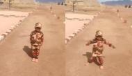 जवानों को सैल्यूट करने वाले बच्चे ने अब 'सैनिक यूनिफॉर्म' पहनकर दी सलामी, वीडियो में देखें बच्चे का जुनून