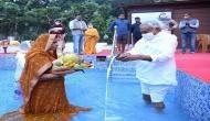 Bihar: CM Nitish Kumar offers 'Arghya' on last day of Chhath Puja