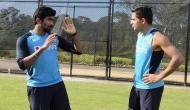 Jasprit Bumrah shares bowling tricks with youngster Kartik Tyagi