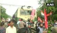 WB: Opposition holds demonstration against Centre's farm laws, blocks railway tracks