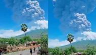 इंडोनेशिया में फूटा ज्वालामुखी, आसमान में चार किलोमीटर तक उठा धुआं, वीडियो देख रह जाएंगे दंग