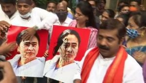 Attack on JP Nadda convoy: BJP workers hold protest march in Mumbai against West Bengal CM