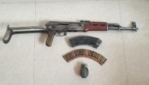 J-K: Police arrests 4 terror associates of Al-Bader, AK-56 rifle, ammunition seized
