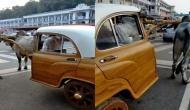 जुगाड़ में नंबर वन हैं भारतीय, एम्बेसडर कार को बना दिया बैलगाड़ी! आनंदर महिंद्रा ने शेयर किया वीडियो