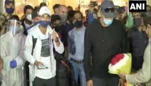 After historic win over Australia at Gabba, Rohit Sharma, Ajinkya Rahane, Ravi Shastri arrive in Mumbai