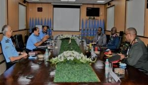 IAF Chief meets Sudanese Cdr of Air Force to enhance bilateral cooperation, training mechanisms