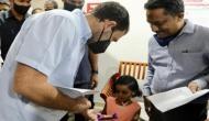 Rahul Gandhi meets survivors of Kozhikode plane crash