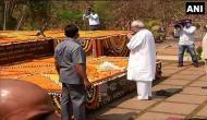 Odisha: Naveen Patnaik pays floral tribute to father Biju Patnaik on his birth anniversary