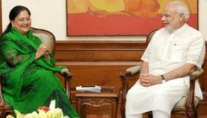 PM Modi wishes Vasundhara Raje long and healthy life on her birthday