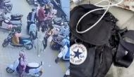 इस शख्स के  बैग में रखे फोन में हो गया ब्लास्ट, वीडियो में देखें फिर हुआ क्या